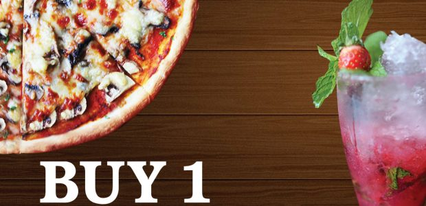 Buy 1 Pizza Get Free 1 Moctail